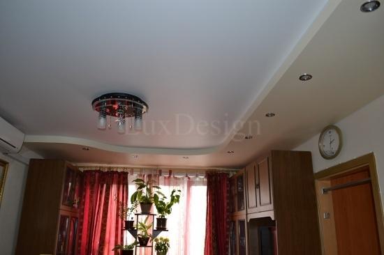 Дизайн двухуровневые натяжные потолки