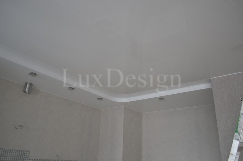 Двухуровневые натяжные потолки матовый и глянцевый.JPG