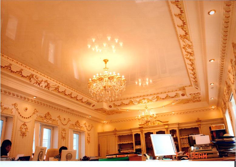 фото натяжных потолков в зале.jpg