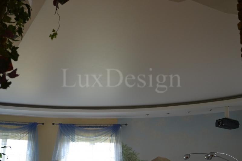 Натяжные потолки в гостиной белый матовый.JPG